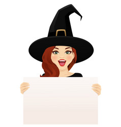 surprised halloween woman vector image