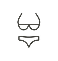 swimsuit icon line beach bikini symbol iso vector image