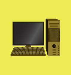 Technology gadget in flat design computer vector