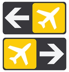 TO PLANE SIGN ARROW vector image