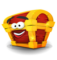 treasure chest character vector image