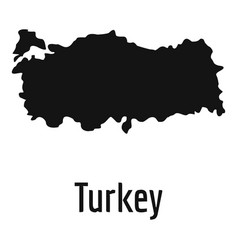 Turkey map in black simple vector