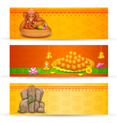 Banner for Ganesh Chaturthi vector image