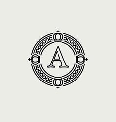 Heraldic sign black line design vector image