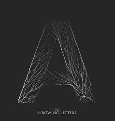 letter a of branch or cracked alphabet a vector image