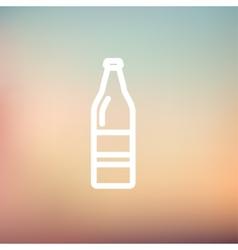 Soda bottle thin line icon vector image vector image
