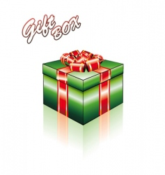 3D gift box with ribbons vector image