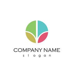 Circle colourfull logo vector