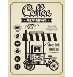 mobile coffee shop vector image vector image