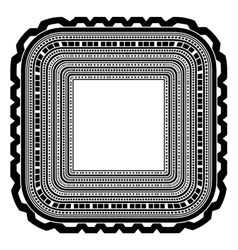 Square Decorative Frame Isolated vector image vector image