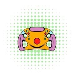 Steering wheel icon comics style vector