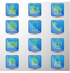 the set of web buttonsdifferent symbols vector image
