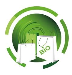 bio shopping bag vector image