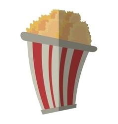 bucket pop corn cinema graphic shadow vector image vector image