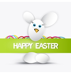 happy easter theme vector image