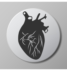 heart grey icon vector image vector image