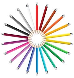 Pencils in a circle vector image vector image