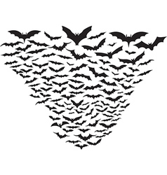 Cloud of bats vector image vector image