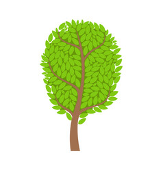 green summer tree element of a landscape vector image