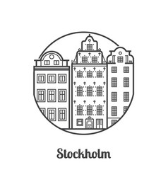 travel stockholm icon vector image vector image