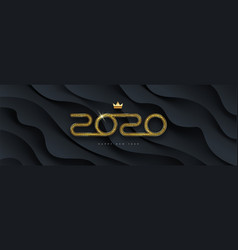 2020 new year greeting card design vector