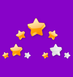 3 stars level achievement vector