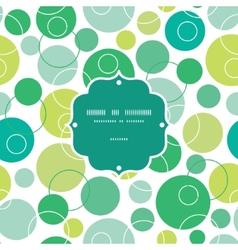 Abstract green circles frame seamless vector