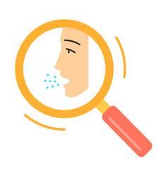 Allergy diagnosis flat design long shadow color vector