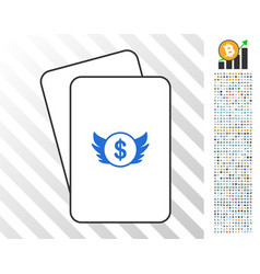 angel investment cards with bonus vector image
