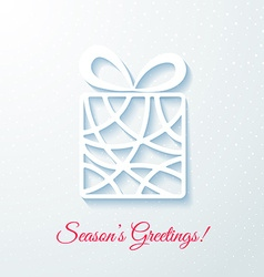 Applique card with white gift box vector