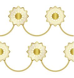 arabic golden luxury seamless pattern on white vector image