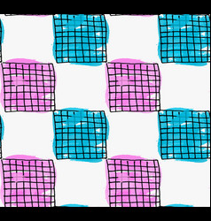 Artistic color brushed purple and blue squares vector