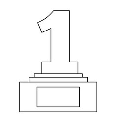award trophy number one pedestal championship vector image