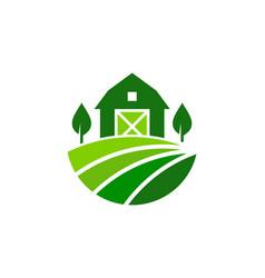 Barn farm logo icon design vector