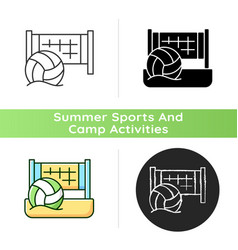 beach volleyball icon vector image