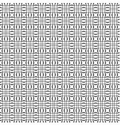 black and white seamless pattern geometric vector image