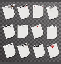 blank sheets paper with clips design vector image
