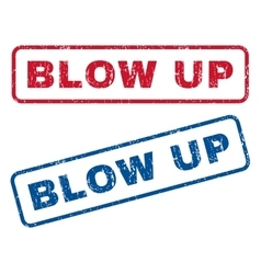 Blow Up Rubber Stamps vector