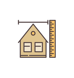 Building size concept colored icon or sign vector