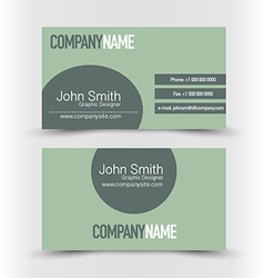 Business card set template Dark green color vector