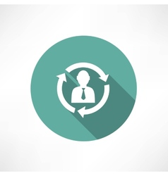 Businesspeople icon - relationship concept vector