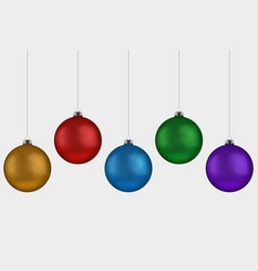 christmas ball handing on string collection xmas vector image