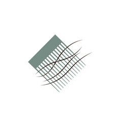 Comb flat icon vector