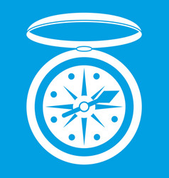 Compass icon white vector