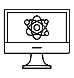 computer learning icon outline style vector image