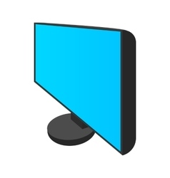 Computer monitor icon cartoon style vector image