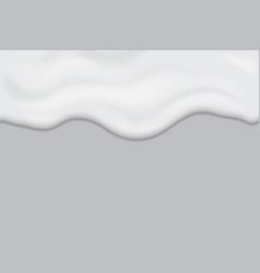 creamy liquid texture horizontal seamless design vector image