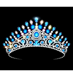 Crown tiara women vector