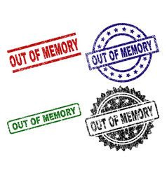 damaged textured out of memory seal stamps vector image