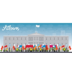 Demonstration in athens vector